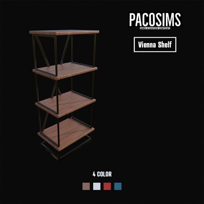 Sims 4 VIENNA SHELF (P) at Paco Sims