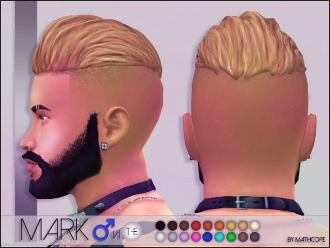 Sims 4 Mark hair by Mathcope at Sims 4 Studio