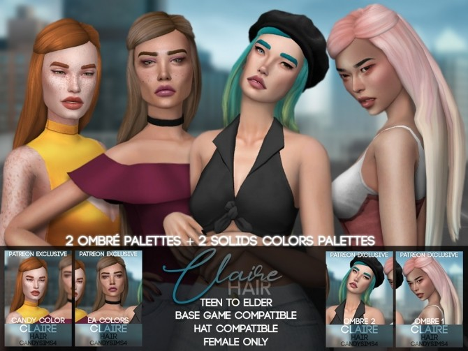 CLAIRE HAIR at Candy Sims 4 image 607 670x503 Sims 4 Updates