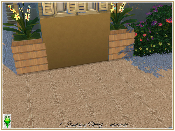 Sandstone Paving by marcorse at TSR image 610 Sims 4 Updates