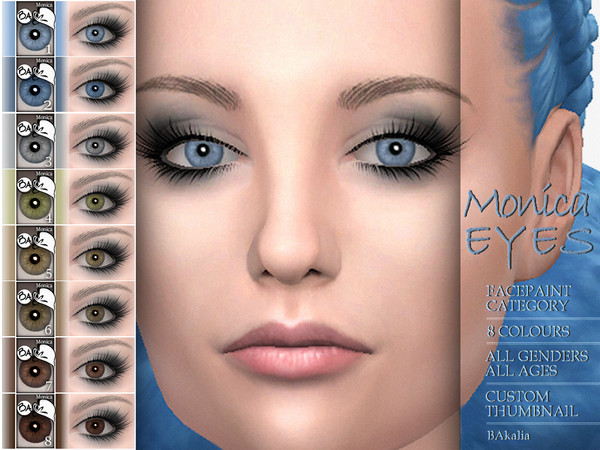 Monica eyes by BAkalia at TSR » Sims 4 Updates