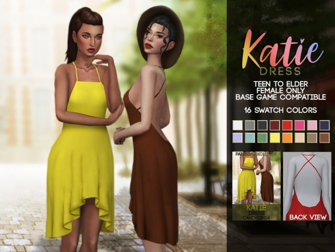 Sims 4 KATIE DRESS at Candy Sims 4