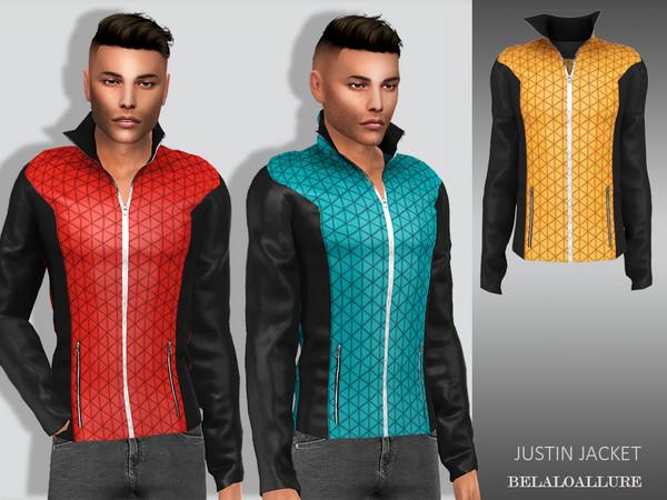 Sims 4 Justin jacket by Belaloallure at TSR