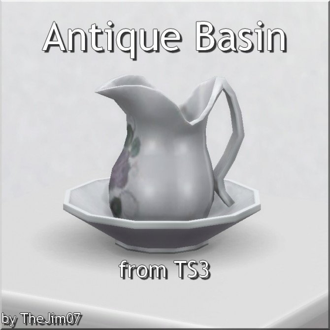 Sims 4 Antique Basin by TheJim07 at Mod The Sims