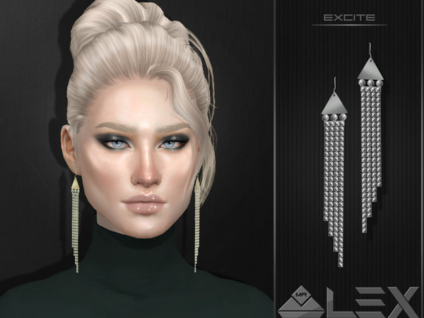 Sims 4 Long earrings by Mr.Alex at TSR