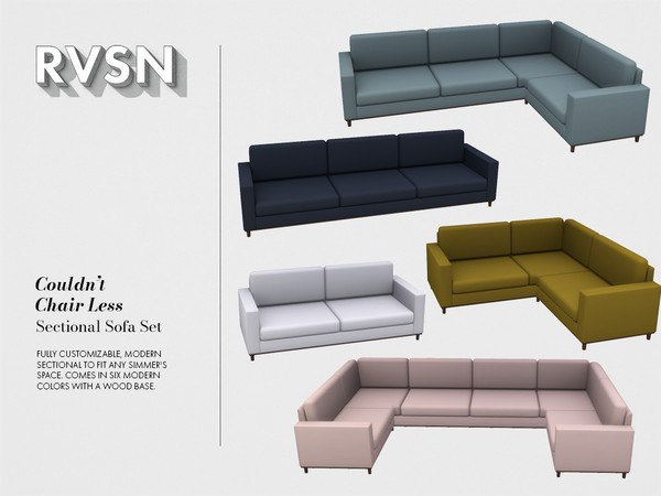 Couldn\'t Chair Less Sectional Sofa Set by RAVASHEEN at TSR ...