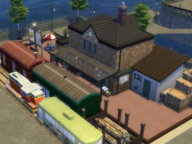 Sims 4 The Train Station at KyriaT's Sims 4 World