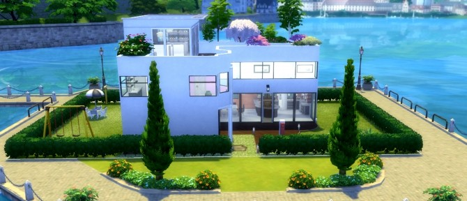 Sims 4 Villa du Quai by valbreizh at Mod The Sims