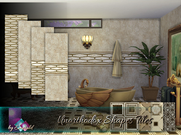 Sims 4 Unorthodox Shapes Tiles by emerald at TSR