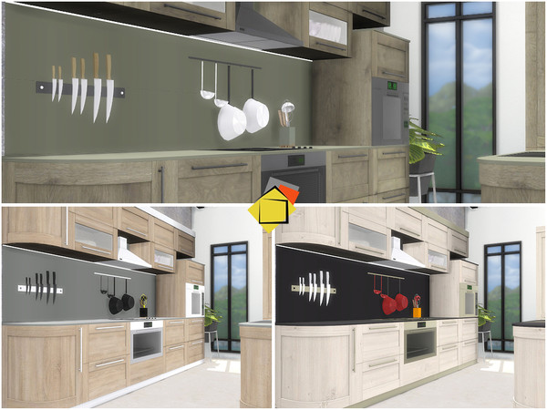 Sims 4 Valencia Kitchen by Onyxium at TSR