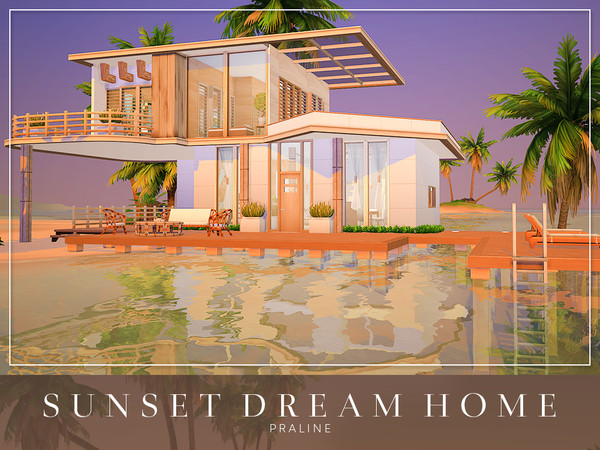Sims 4 Sunset Dream Home by Pralinesims at TSR