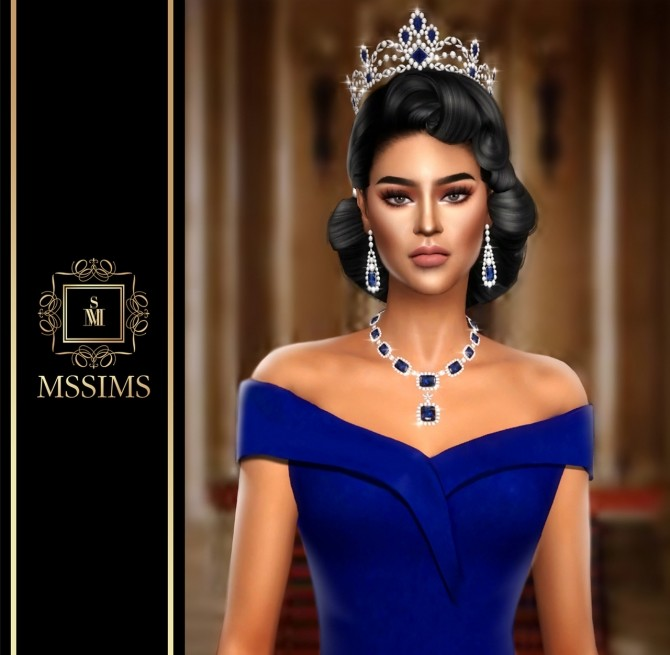 QUEEN SAPPHIRE SET (P) at MSSIMS image 6910 670x655 Sims 4 Updates