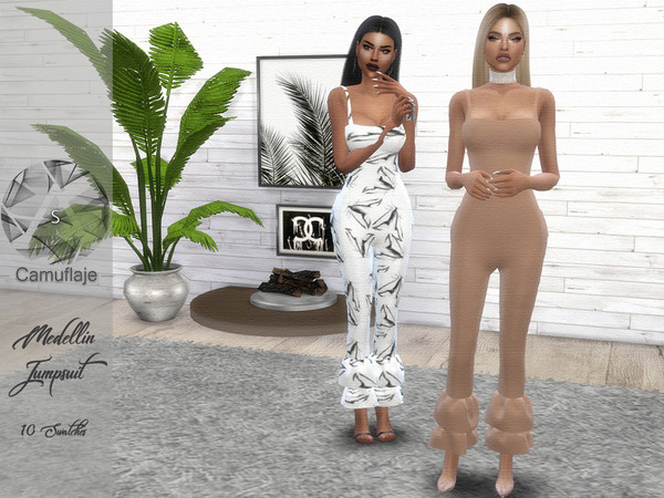 Medellin Jumpsuit by Camuflaje at TSR image 701 Sims 4 Updates