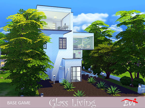 Glass living 4 stories house by evi at TSR image 7022 Sims 4 Updates