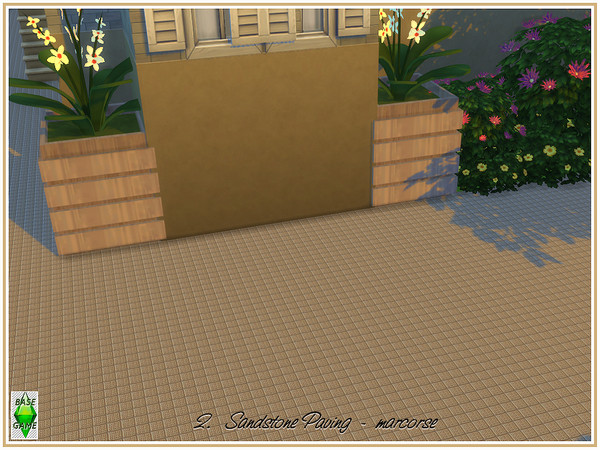 Sandstone Paving by marcorse at TSR image 710 Sims 4 Updates