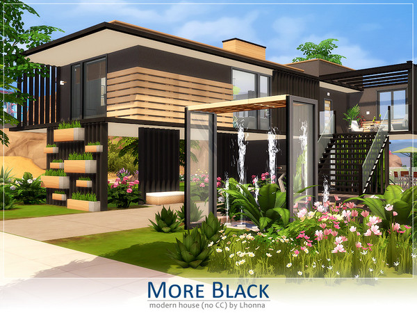 Sims 4 More Black house by Lhonna at TSR