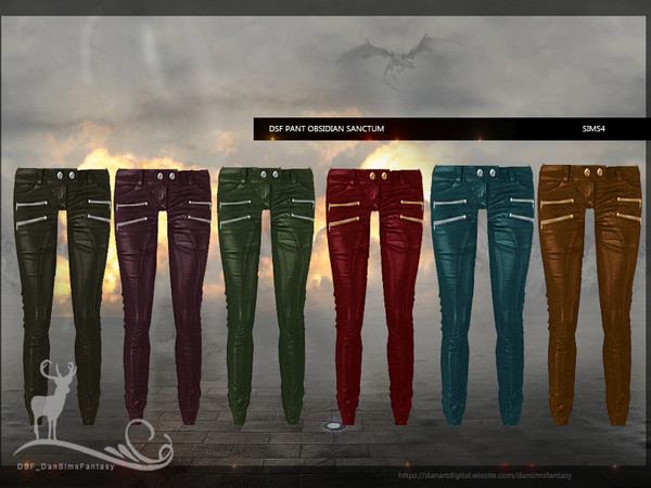 Sims 4 DSF PANT OBSIDIAN SANCTUM by DanSimsFantasy at TSR