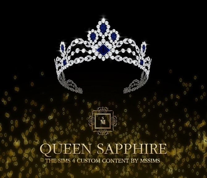 QUEEN SAPPHIRE SET (P) at MSSIMS image 7212 670x576 Sims 4 Updates