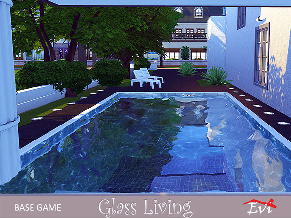 Sims 4 Glass living 4 stories house by evi at TSR