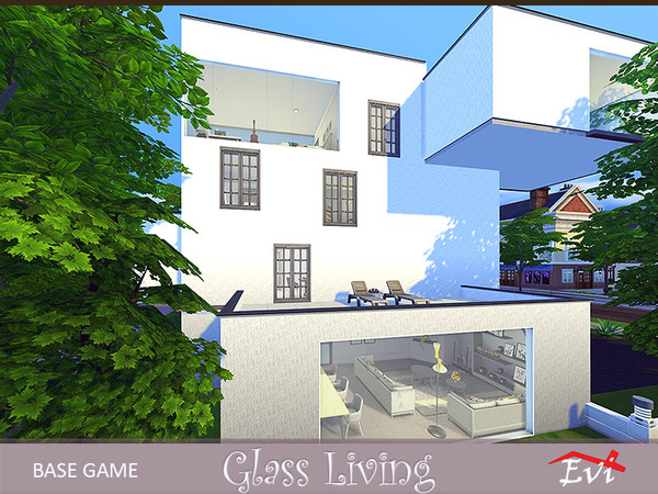 Glass living 4 stories house by evi at TSR image 7321 Sims 4 Updates
