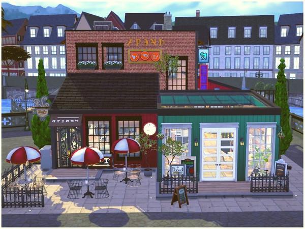 Sims 4 OLD QUARTER RESTAURANT by lotsbymanal at TSR