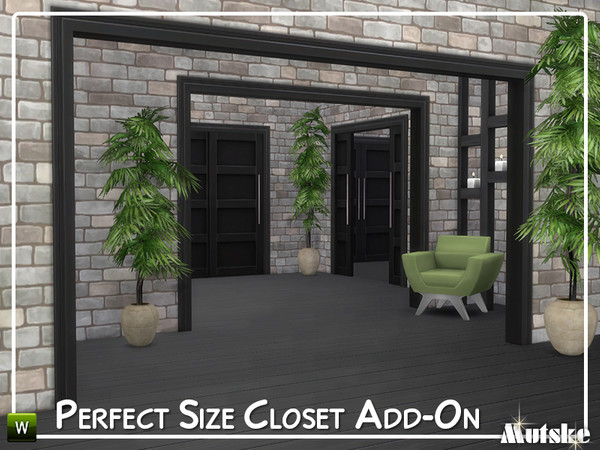 Perfect Size Closet Add on by mutske at TSR image 7411 Sims 4 Updates