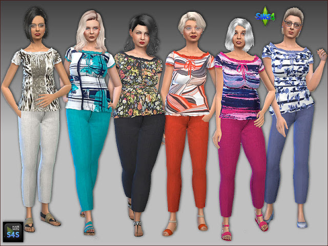 Shirts and pants for seniors by Mabra at Arte Della Vita image 748 Sims 4 Updates