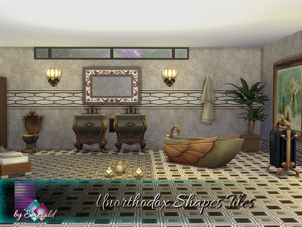 Unorthodox Shapes Tiles by emerald at TSR image 750 Sims 4 Updates