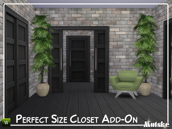 Perfect Size Closet Add on by mutske at TSR image 7512 Sims 4 Updates