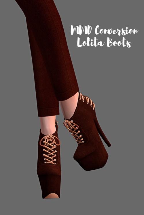 Lolita Boots (MMD Conversion) at Astya96 image 755 Sims 4 Updates