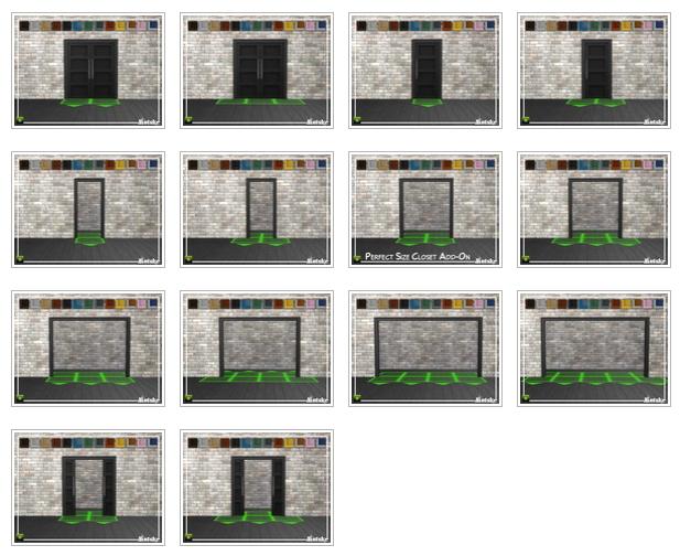 Sims 4 Perfect Size Closet Add on by mutske at TSR