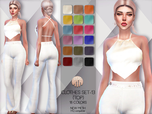 Sims 4 Clothes SET 13 TOP BD61 by busra tr at TSR