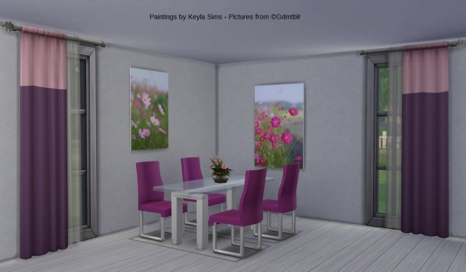 Gdmtblr paintings at Keyla Sims image 775 670x391 Sims 4 Updates