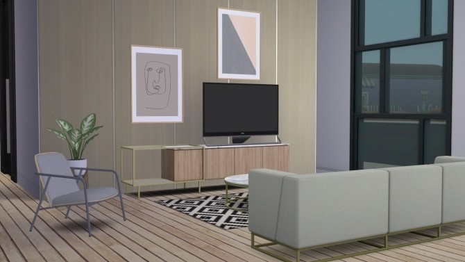 Sims 4 PAD LOUNGE CHAIR LOW (P) at Meinkatz Creations