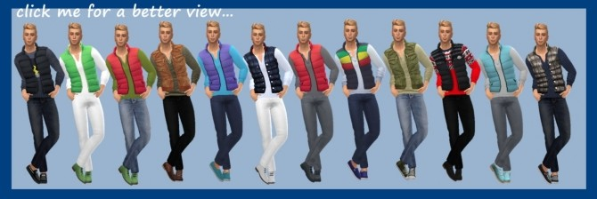 PADDED VEST & PANTS at Sims4Sue image 7913 670x224 Sims 4 Updates