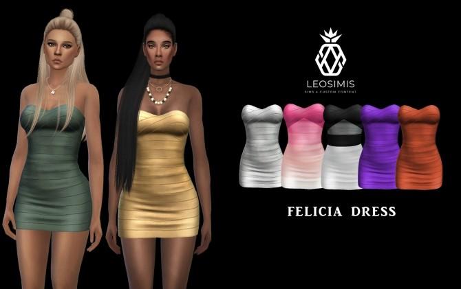 Sims 4 Felicia Dress (P) at Leo Sims