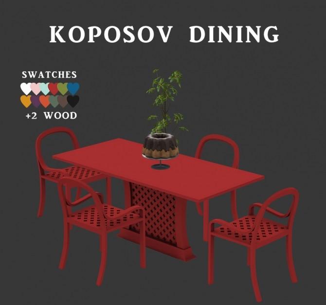 Sims 4 Koposov Dining at Leo Sims