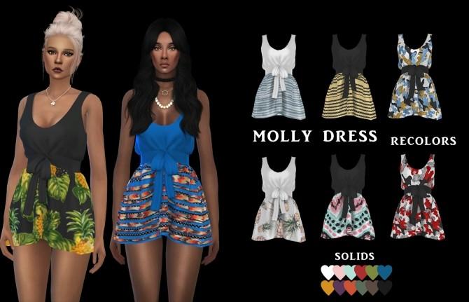 Molly Dress at Leo Sims image 809 670x431 Sims 4 Updates
