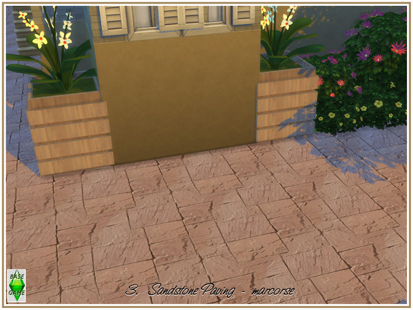 Sandstone Paving by marcorse at TSR image 810 Sims 4 Updates