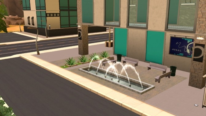 Sims 4 Oasis Fitness Center by JudeEmmaNell at Mod The Sims