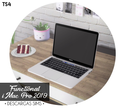 Sims 4 MacBook Pro 2019 Functional (P) at Descargas Sims