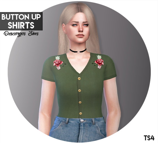 Button Up Shirts at Descargas Sims image 8413 Sims 4 Updates