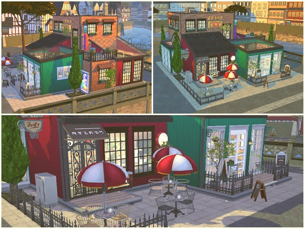 OLD QUARTER RESTAURANT by lotsbymanal at TSR image 850 Sims 4 Updates
