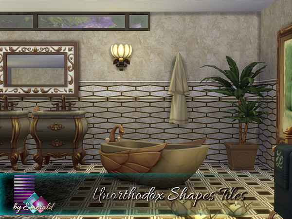 Unorthodox Shapes Tiles by emerald at TSR image 860 Sims 4 Updates
