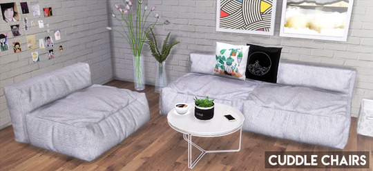 Sims 4 Cuddle Chairs at Descargas Sims