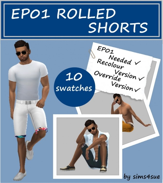 EP01 ROLLED SHORTS at Sims4Sue image 879 670x750 Sims 4 Updates
