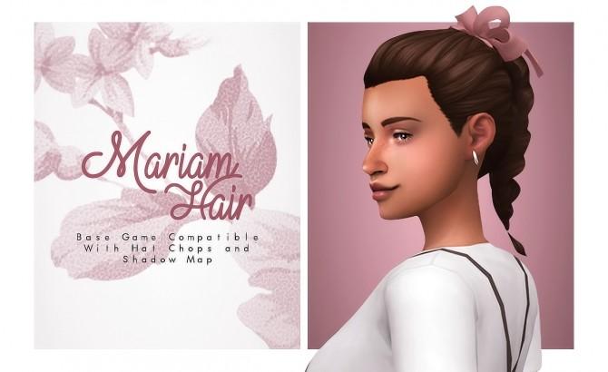 Mariam cute braid hair at Isjao – working on uni image 882 670x410 Sims 4 Updates