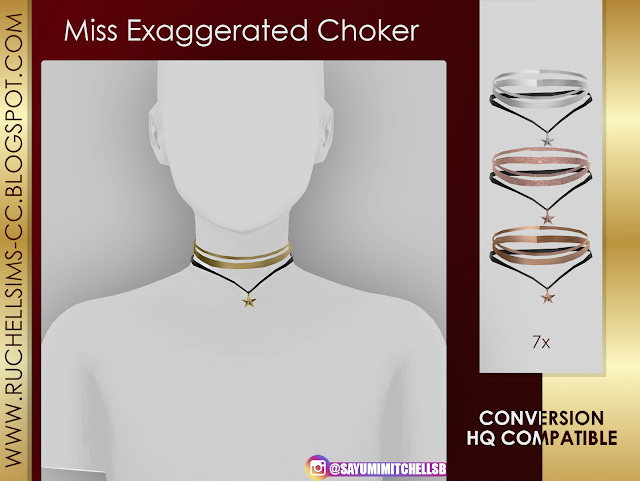 Chokers by ruchellsims at REDHEADSIMS image 8910 Sims 4 Updates