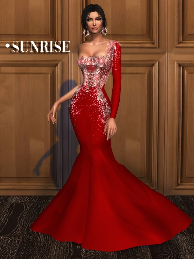 SUNRISE gown at Mably Store image 8911 670x892 Sims 4 Updates