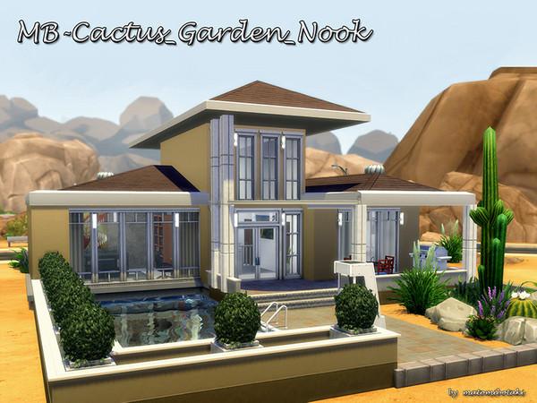 Sims 4 MB Cactus Garden Nook by matomibotaki at TSR